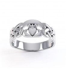 Ladies & Gents Silver Claddagh Ring