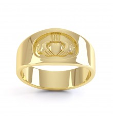 Ladies and Gents Gold Contemporary Claddagh Ring