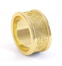 Gents Gold Celtic Wedding Band