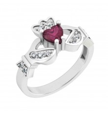 Mo Chroi Ladies Diamond Claddagh Ring