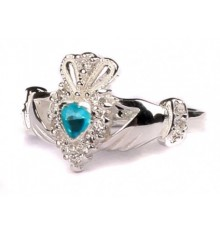 Silver Birthstone Ring December