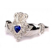 Silver Birthstone Ring September