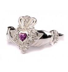 Silver Birthstone Ring June