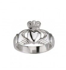 Gents Handcrafted Silver Claddagh Ring