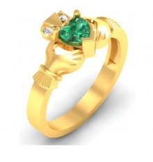Aisling Diamond Claddagh Ring