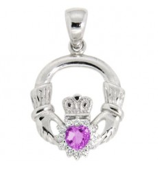Birthstone pendants ardri jewellery silver birthstone pendant february aloadofball Choice Image