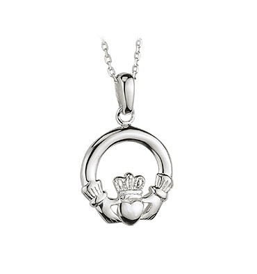 claddagh medium large pendants rings pendant necklaces celtic silver product
