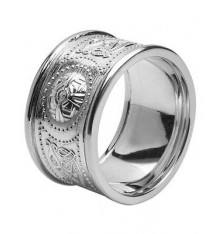 White Gold Celtic Warrior Ring 12mm