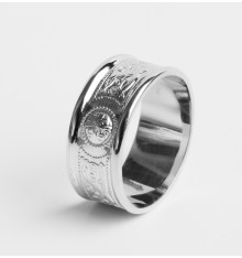 White Gold Celtic Ring 9mm