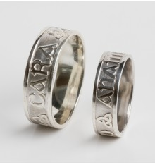 10 Carat  White Gold Anam Cara Wedding Ring Set