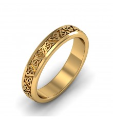 Boru Celtic Wedding Ring 4mm
