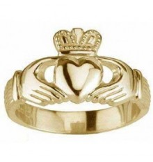 Gents Gold Claddagh Ring